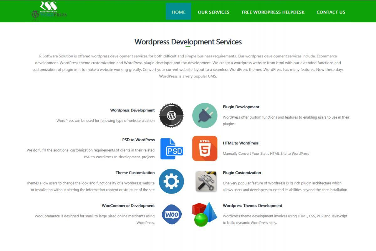 Wordpress Website Development - R Software Solution